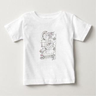 Camiseta Para Bebê Abstrato geométrico Ventoso-Lunático