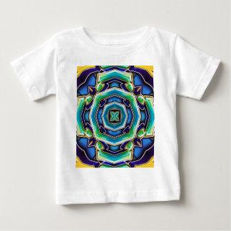 Camiseta Para Bebê Abstrato moderno artístico do verde azul