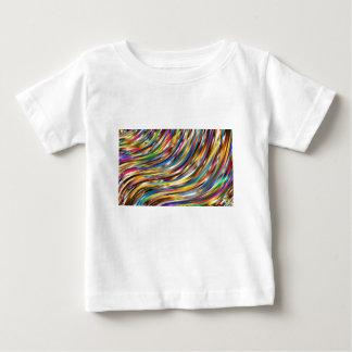 Camiseta Para Bebê Abstrato ondulado