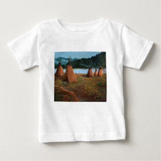 Camiseta Para Bebê Acampamento de Verão