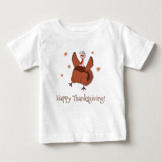 Camiseta Para Bebê Acção de graças feliz Turquia engraçada unisex