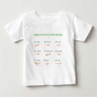 Camiseta Para Bebê Ácidos aminados - de onde você obtem sua proteína?
