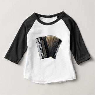 Camiseta Para Bebê Acordeão de piano