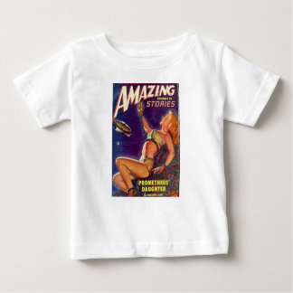 Camiseta Para Bebê Acorrentado a uma rocha