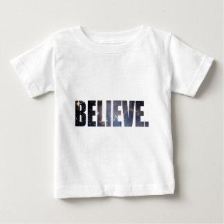 Camiseta Para Bebê Acredite