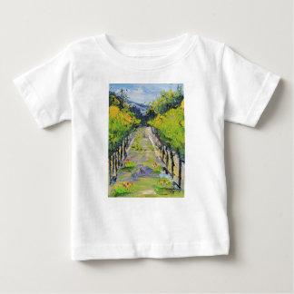 Camiseta Para Bebê Adega de Califórnia, videiras do vinhedo do verão