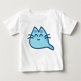 Camiseta Para Bebê Adocicas! Gatinho azul alpargata