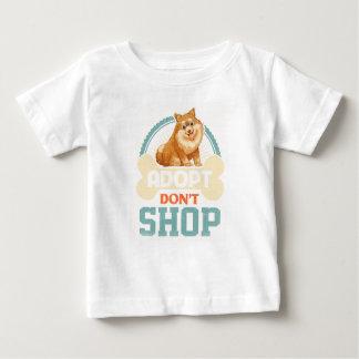 Camiseta Para Bebê Adopt não compra o pro T Pomeranian da adopção do