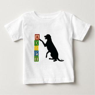 Camiseta Para Bebê ADOTE um animal de estimação do abrigo