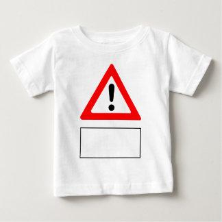 Camiseta Para Bebê ADVERTIR adiciona seu próprio texto personalizado