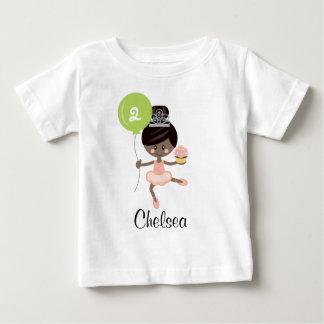 Camiseta Para Bebê Afro-americano do t-shirt do bebê do aniversário