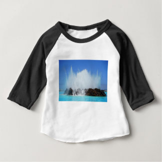 Camiseta Para Bebê Água que bate rochas em Ilhas Canárias