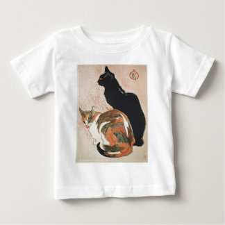 Camiseta Para Bebê Aguarela - 2 gatos - Théophile Alexandre Steinlen