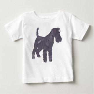Camiseta Para Bebê Aguarela de Airedale Terrier