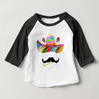 Camiseta Para Bebê Aguarela do chapéu do Sombrero