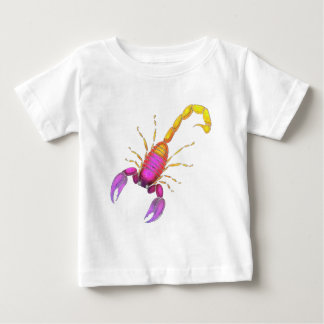 Camiseta Para Bebê Aguarela do escorpião