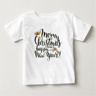Camiseta Para Bebê Aguarela do Natal | - citações do feliz ano novo
