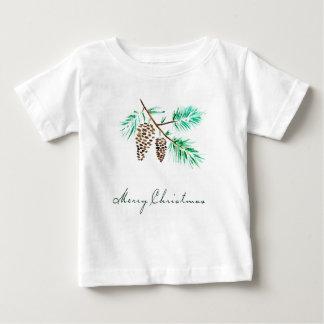 Camiseta Para Bebê Aguarela do Natal | - citações festivas de