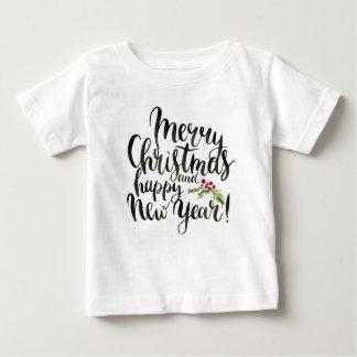 Camiseta Para Bebê Aguarela do Natal | - poinsétia do feliz ano novo