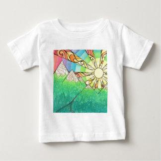 Camiseta Para Bebê Aguarela & marcador abstratos do ajuste de Sun do