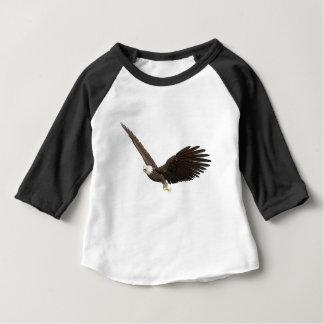 Camiseta Para Bebê Águia americana crescente