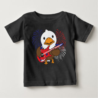 Camiseta Para Bebê Águia americana de Rockin
