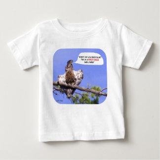 Camiseta Para Bebê Águia americana nova irritada