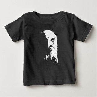 Camiseta Para Bebê Águia americana preta & branca