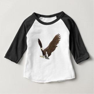 Camiseta Para Bebê Águia americana que entra para uma aterragem