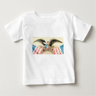 Camiseta Para Bebê águia e selo das bandeiras
