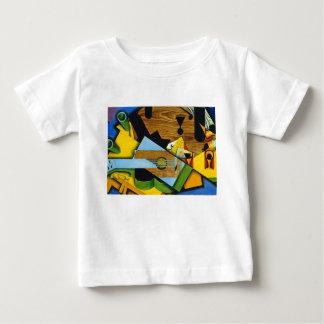 Camiseta Para Bebê Ainda vida com uma guitarra por Juan Gris