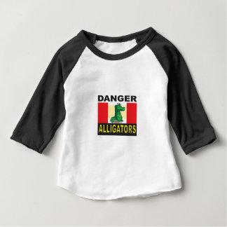 Camiseta Para Bebê ajuda do jacaré dos desenhos animados
