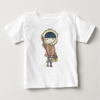 Camiseta Para Bebê Akiou o pequeno inuit