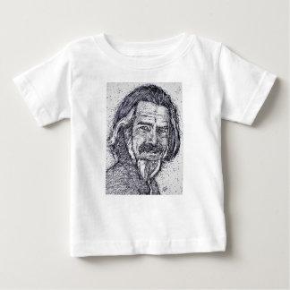 Camiseta Para Bebê ALAN WATTS - retrato da tinta