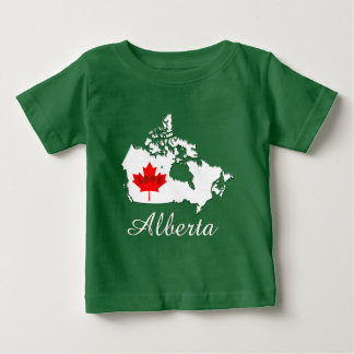 Camiseta Para Bebê Alberta personaliza o verde da província de Canadá