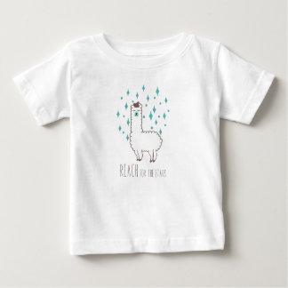 """Camiseta Para Bebê """"Alcance para ilustração doce do lama das"""