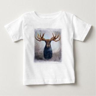 Camiseta Para Bebê Alces da aurora boreal