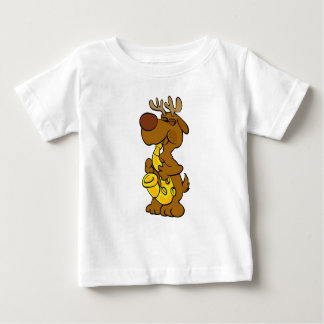 Camiseta Para Bebê Alces que jogam o saxofone