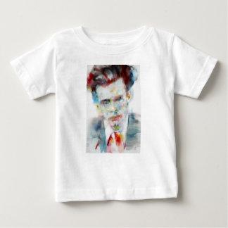Camiseta Para Bebê ALDOUS HUXLEY - retrato .4 da aguarela