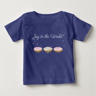 Camiseta Para Bebê Alegria ao t-shirt do bebê das rosquinhas | do