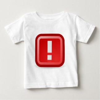 Camiseta Para Bebê Alerta vermelho