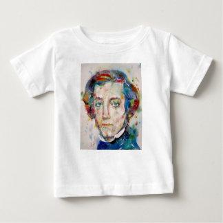 Camiseta Para Bebê Alexis de tocqueville - retrato da aguarela