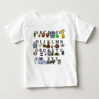 Camiseta Para Bebê Alfabeto animal