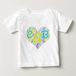 Camiseta Para Bebê alfabeto do amor