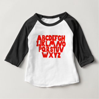 Camiseta Para Bebê Alfabeto inglês