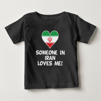 Camiseta Para Bebê Alguém em Irã ama-me