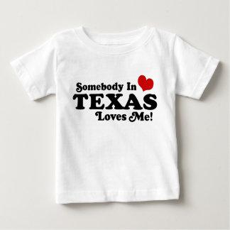 Camiseta Para Bebê Alguém em Texas ama-me