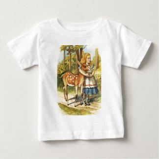 Camiseta Para Bebê Alice e a jovem corça