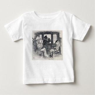 Camiseta Para Bebê Alice no trem