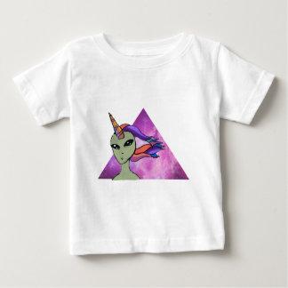Camiseta Para Bebê Alien Unicornio
